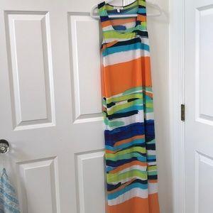 London Times Sleeveless Maxi Dress Size 8
